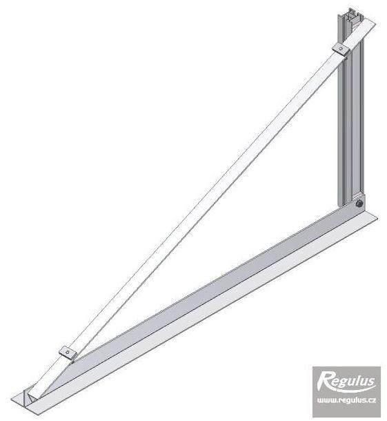 Regulus Držák na rovnou střechu pro kolektory KPG1 na ležato - trojúhelníková podpěra 25 stupňů
