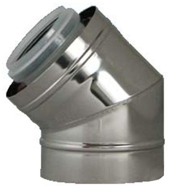 Regulus Koleno 45° průměr 80/125 PPH-A/Inox 8643