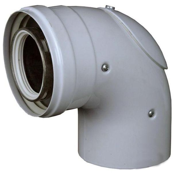 Regulus Koleno 90° 80/125 lité s kontrolním otvorem 8432