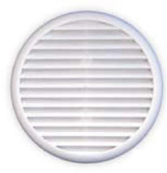 Regulus Kruhová mřížka plastová se síťkou proti hmyzu, 80-125 mm 9002