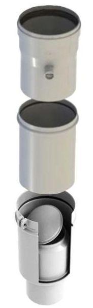 Regulus Přechod ke kotli pro kaskády průměr 80 na 100 PP včetně zpětné klapky  9682