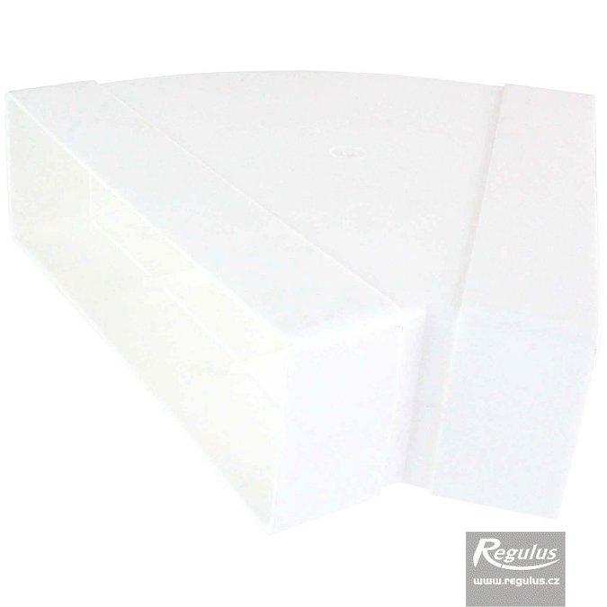 Regulus Oblouk horizontální 45° bez dělicích segmentů plast 60x200 mm