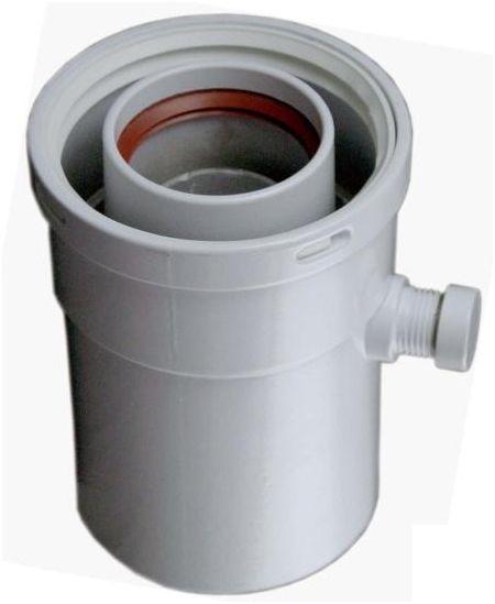 Regulus Vsuvka 60/100 pro odvod kondenzátu svislá 4663