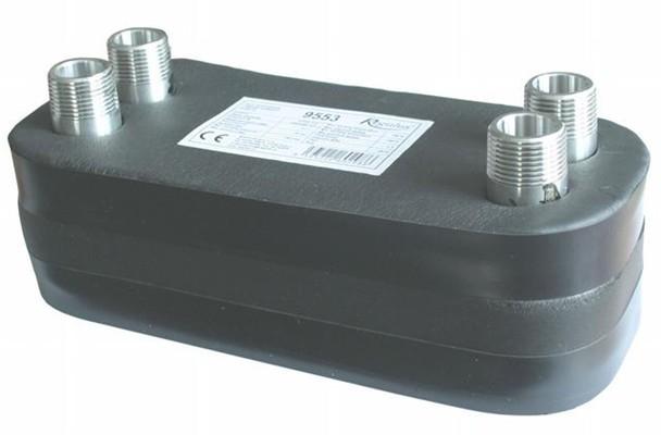 Regulus Nerezový deskový výměník tepla DV285-20E izolovaný 9553
